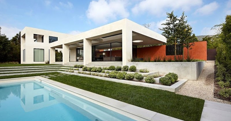 Casa con fachada minimalista todo sobre fachadas for Piani di casa minimalista