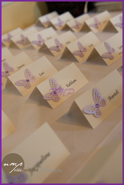 Caroline Graham at Chic Wedding Stationery made these wonderful place cards