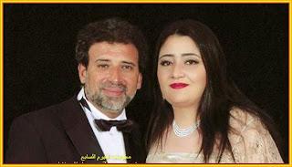 المخرج المصري خالد يوسف وزوجته الفنانة التشكيلية السعودية شاليمار شربتلي