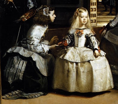 velazquezs las meninas essay The painting las meninas was completed in sixteen fifty-six the setting of the painting is diego velazquez's studio which was located in the palace of king philip iv even though velazquez is in the painting, the focal point is the king's daughter, margarita, who was a very small child at the time.