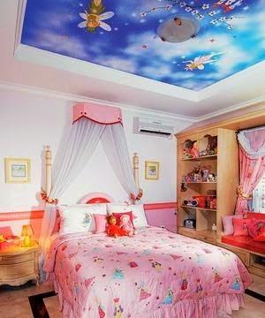 gambar desain dekorasi ukuran kamar tidur anak perempuan