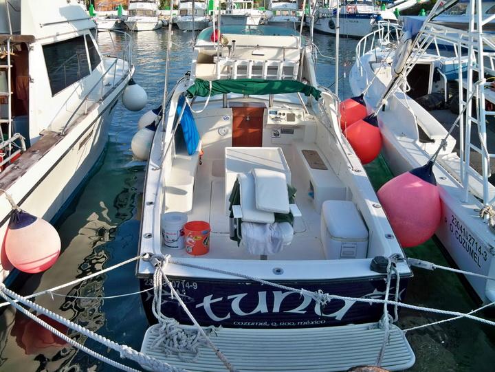 boat at Cozumel Island Marina