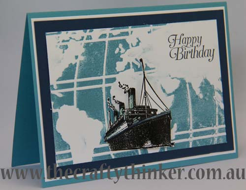 SU, saleabration, Traveler, masculine card, hand made birthday card