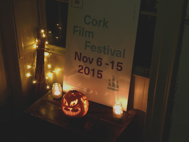 Cork Film Festival Dates lite up by small lights