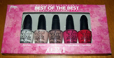 Nail Polish, Nail Varnish, OPI minis, Best of the Best, Alpine Snow, Bubble Bath, Tickle my France-y, Strawberry Margarita , Cajun Shrimp