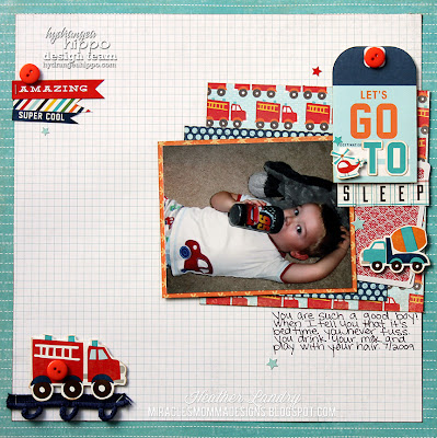 Fire Truck_Scrapbook Page_Little Boy_Echo Park