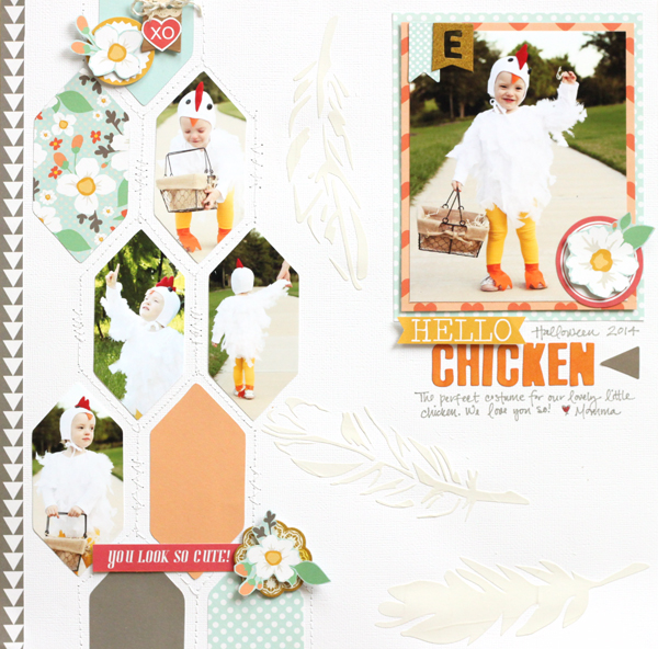 Erin Andrew Chickaniddy Crafts Halloween Layout