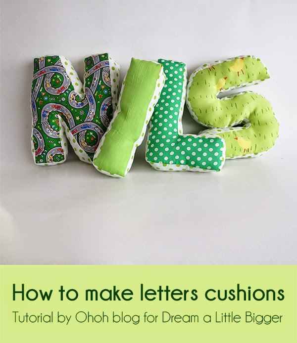How to make letters cushions