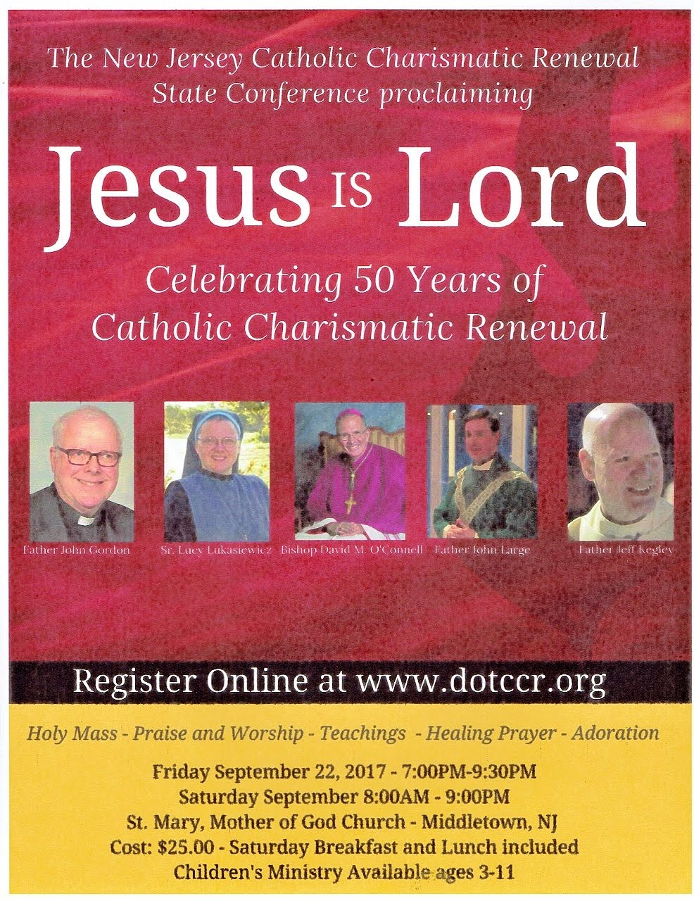 New Jersey Catholic Charismatic Renewal State Conference (September 22-23, 2017)