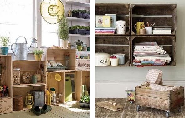 Kp tienda vintage online caja de madera vintage - Como decorar cajas de madera de fruta ...