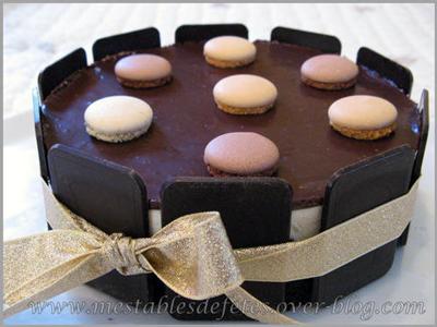 Entremet mousse au chocolat et cointreau