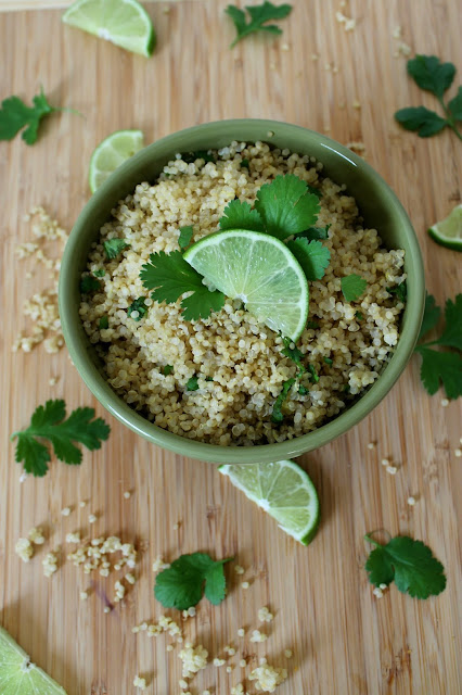 must make: cilantro lime quinoa!