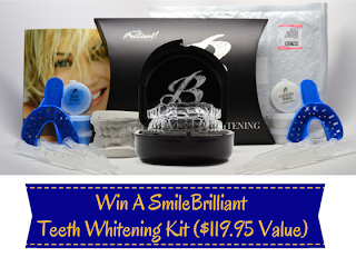 Enter the SmileBrilliant Teeth Whitening Kit Giveaway. Ends 9/23
