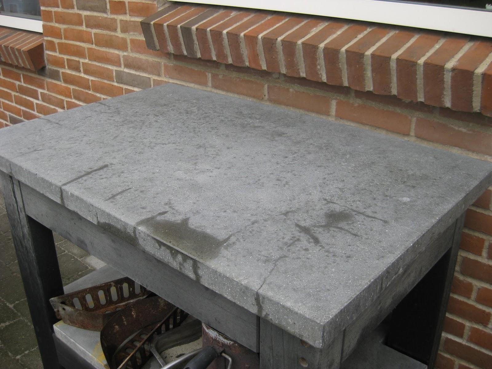 glasfiber og beton bordplade