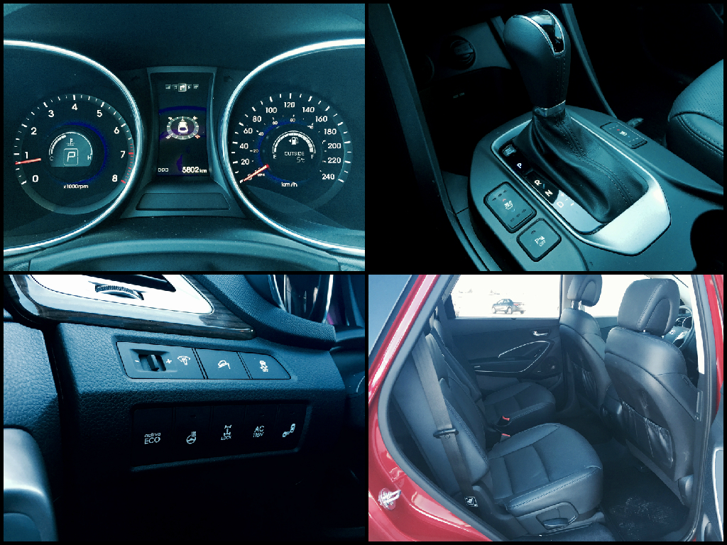 2015 Hyundai Santa Fe XL interior collage