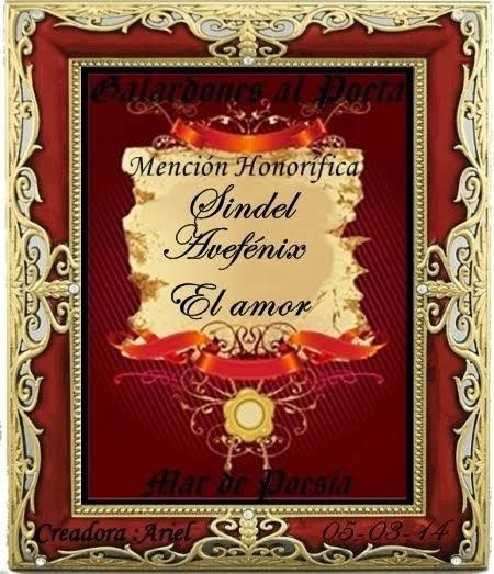 POEMA GALARDONADO - EL AMOR