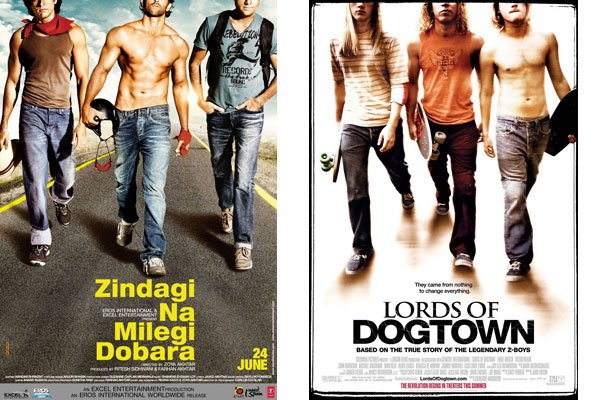 'Zindagi na milegi dobara' Poster Copied from 'Lords of Dogtown'