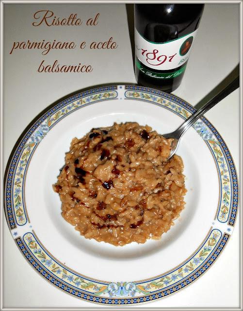 risotto con crema al parmigiano e aceto balsamico