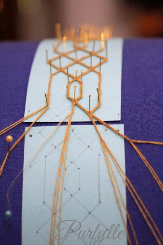 broken bobbin lace yarn