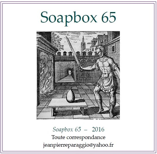 SOAPBOX 65, FEUILLET DE L'UMBO, ART & POÉSIE, NOVEMBRE 2016