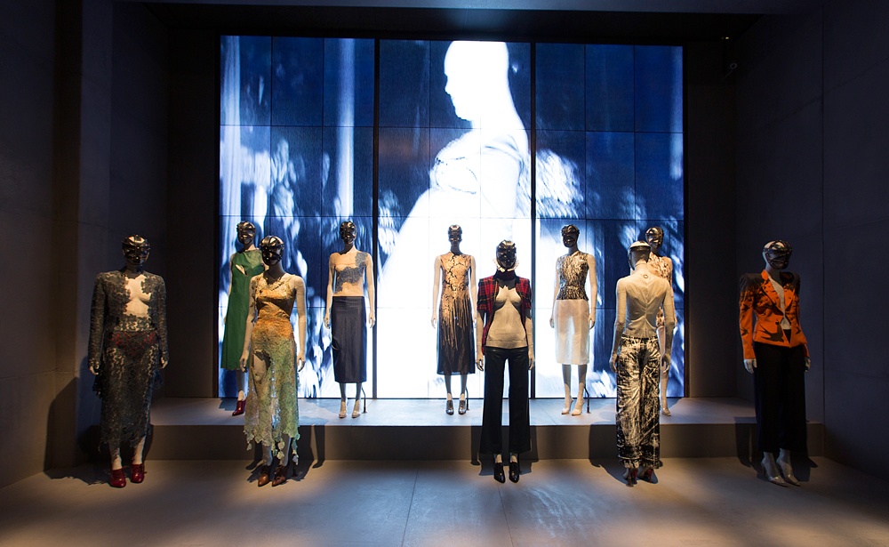 "Installation view of ""London"" / Alexander McQueen Savage Beauty exhibition / Victoria & Albert Museum London / via fashioned by love british fashion blog"