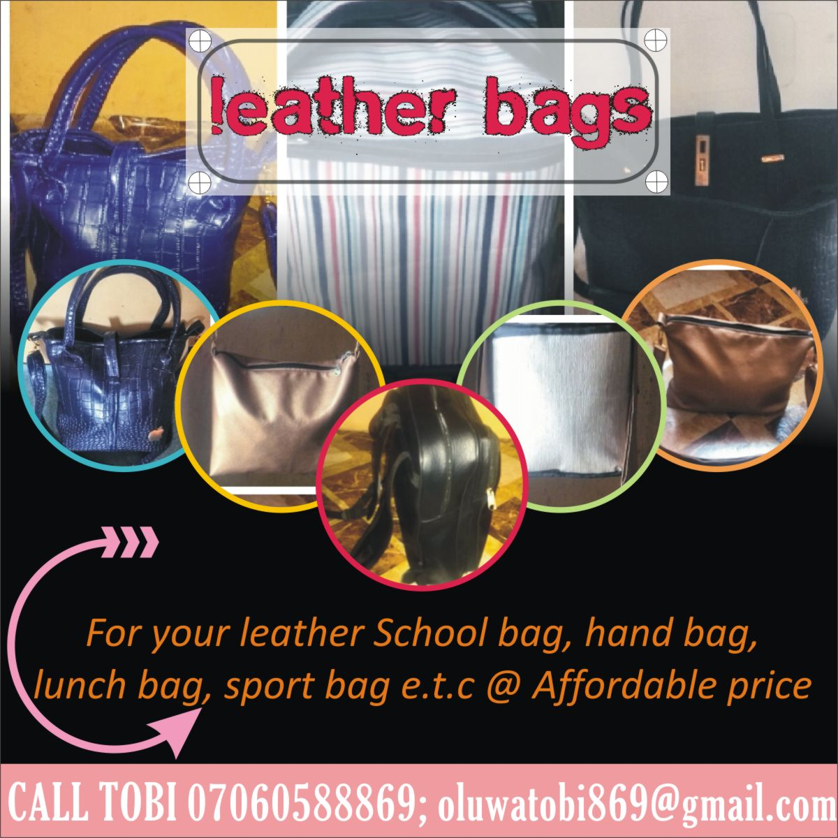 Get Your Hand Made Bag At An Affordable Price.... Check it out