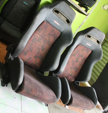 Dingz garage seat recaro lancer evo 4 complete for Garage seat 91