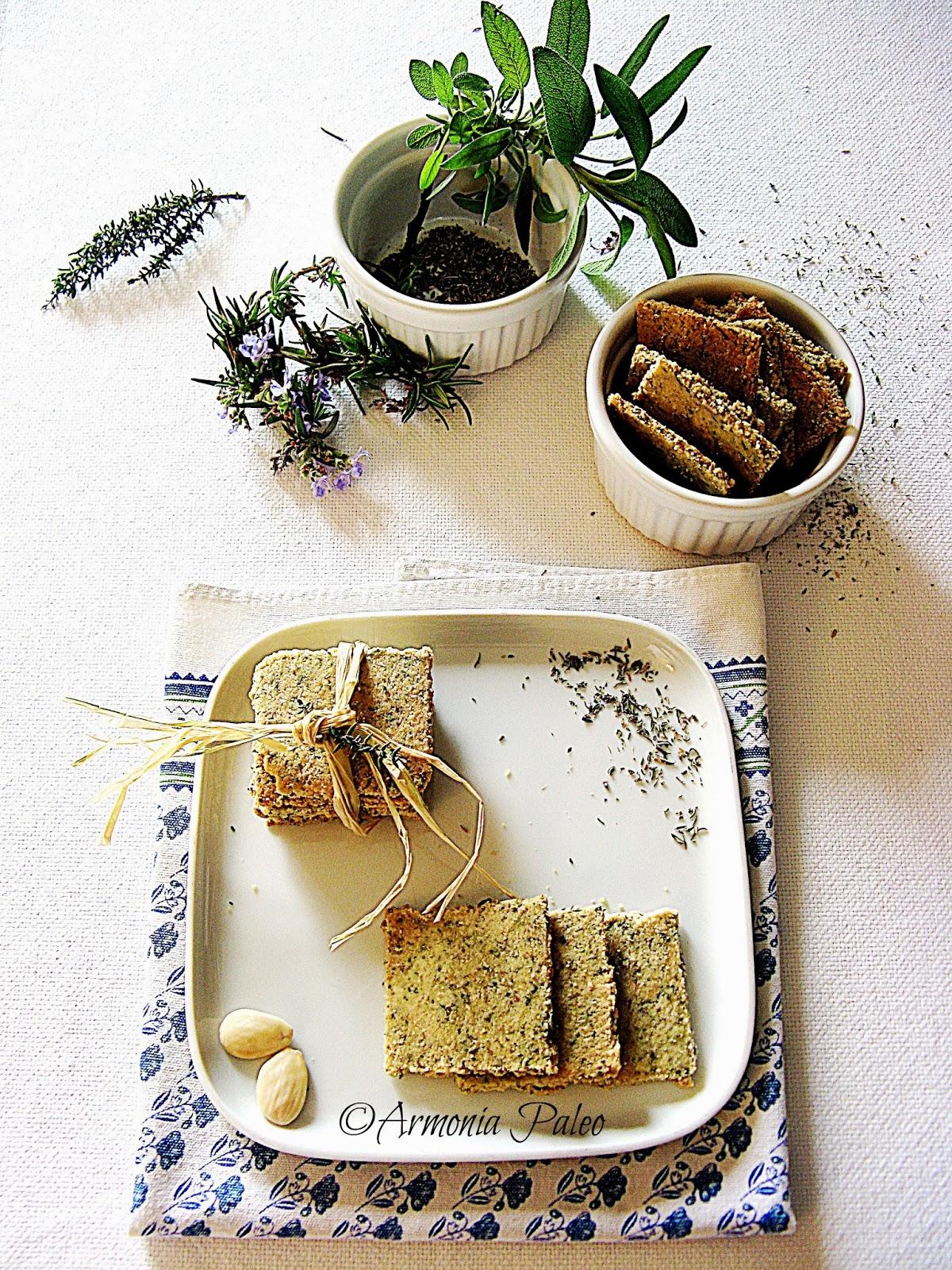 Crackers alle erbe di Provenza di Armonia Paleo