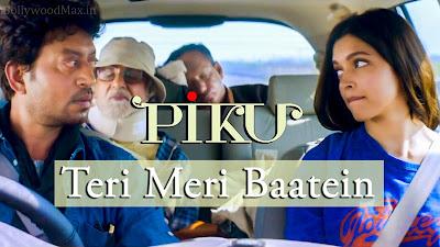 Teri Meri Baatein Lyrics - PIKU - Anupam Roy