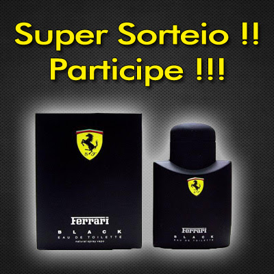 sorteio Sorteio Ferrari Black 40ml 