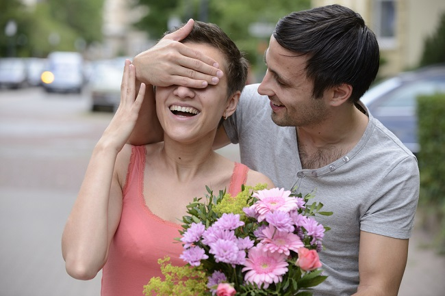 Image result for Show your affection by surprising someone with a bouquet of flowers