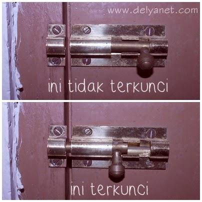 ilustrasi kunci slot yang terkunci dan tidak terkunci