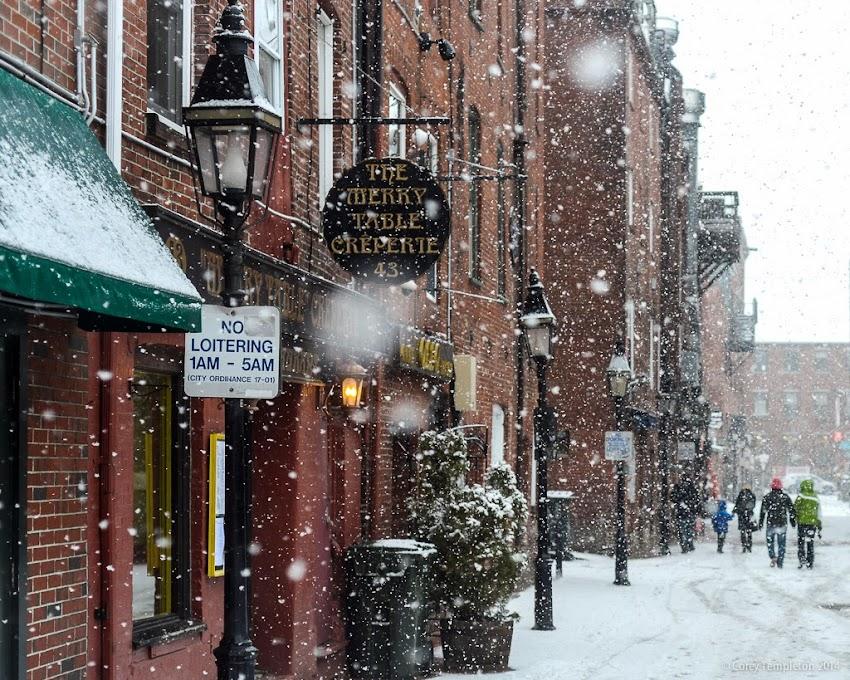 Portland, Maine Wharf Street Old Port Winter Snow photo by Corey Templeton