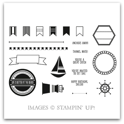 Stampin' Up! Settin' Sail Stamp Set Artwork