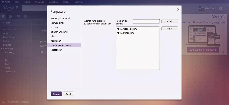 Cara Menghapus Email Yahoo Terbaru 2014