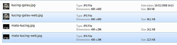 Penamaan file dengan spesifikasi tanpa stip (-).