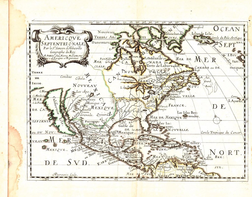 Online Maps Old French Atlas Of America - French maps online