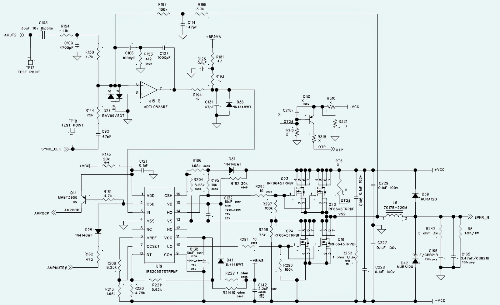 Various diagram JBL MS A5001 SCHEMATIC POWER AMPLIFIER