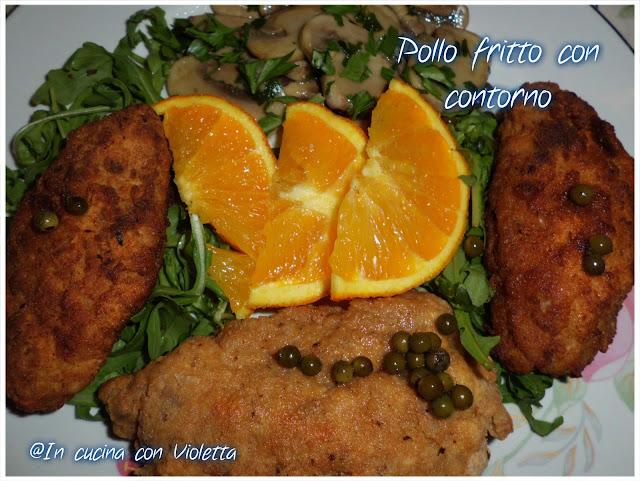 Pollo fritto con contorno © In cucina con Violetta