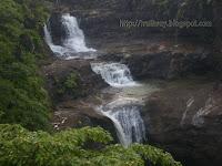 Randha falls of Bhandardara dam near Pune in India