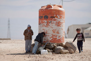 Water Tank in Al Zaatari Refugee Camp