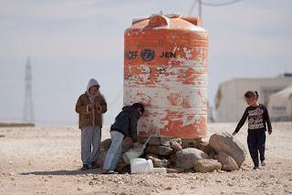 Water Tank in Al Zaatari Refugee Camp