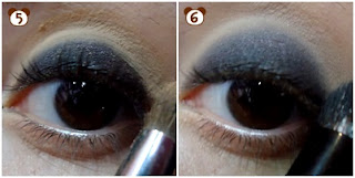 smokey eye com azul