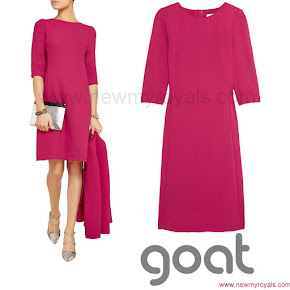 Crown Princess Mary Style Goat Nesta Wool Crepe Dress
