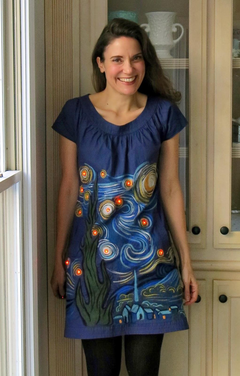 Cassie Stephens Diy A Felted Light Up Starry Night Dress