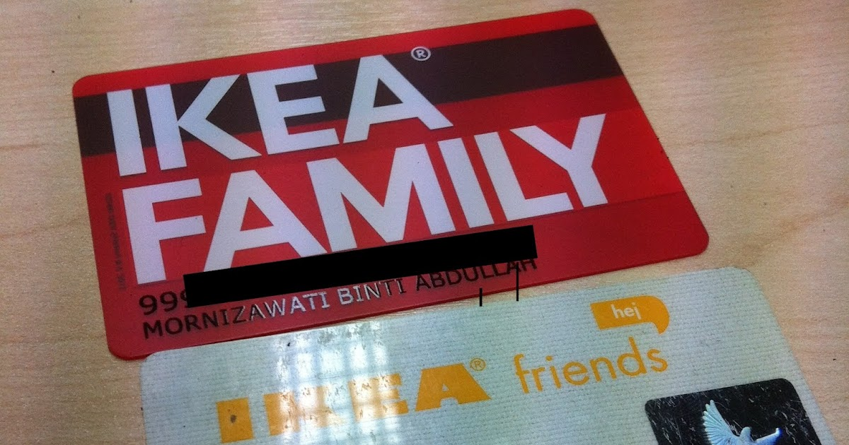 iswatie 39 s family ikea family card. Black Bedroom Furniture Sets. Home Design Ideas