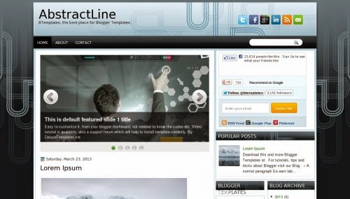 AbstractLine - Free Blogger Template