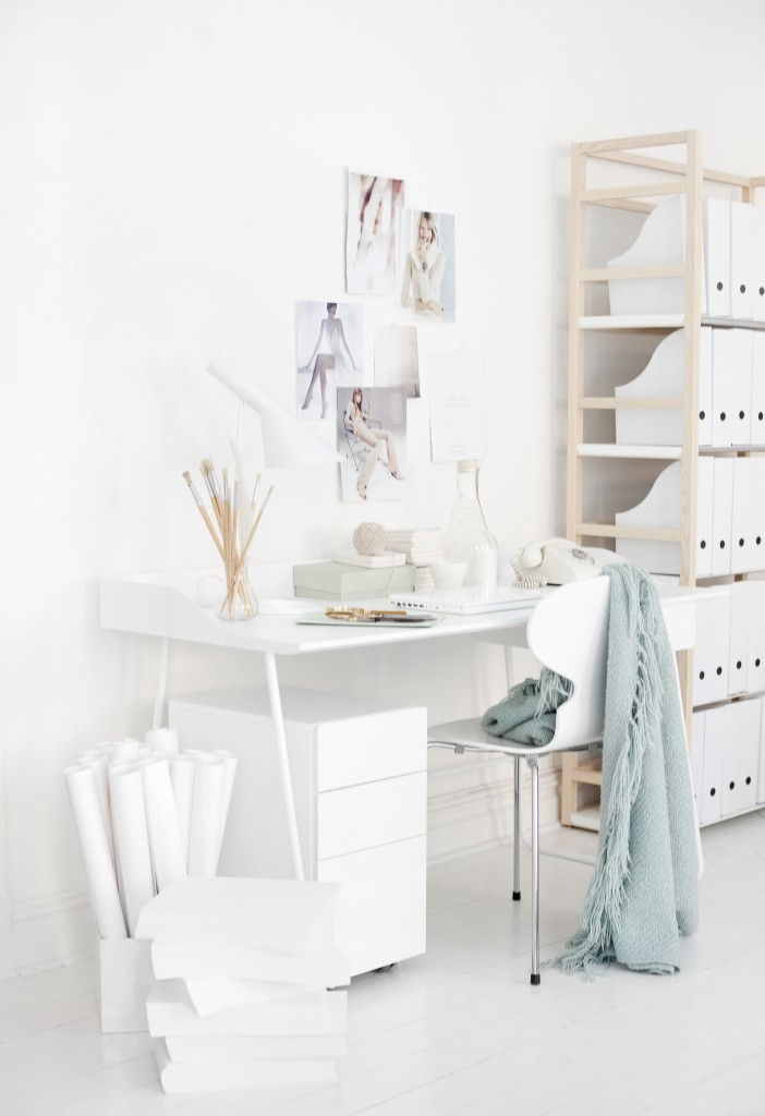 My Scandinavian Home A Beautiful Office In White And