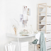 A beautiful office in white and light wood