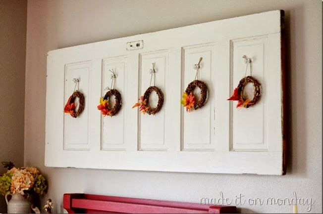 Old Door Wall Art and Fall Decor